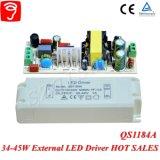세륨 TUV QS1184A를 가진 위원회 빛을%s 34-45W 넓은 전압에 의하여 고립되는 LED 운전사