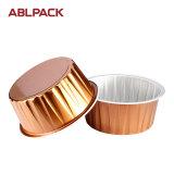 Tazas de la magdalena del papel de aluminio de la alta calidad para la hornada