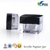アクリルの装飾的な包装のクリーム色の瓶、5g 10gの正方形の瓶