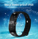 IP68는 스포츠 Bluetooth 지능적인 팔찌 V66를 방수 처리한다