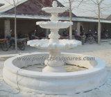 庭の石の彫刻(SY-F187)のための石造りの大理石の噴水