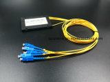 광학 섬유 케이블 Gpon 원거리 통신 1X8 아BS 상자 PLC 쪼개는 도구 Sc/Upc
