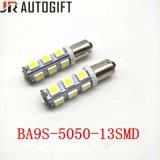 최신 판매 자동 독서 LED 전구 Ba9s 5050 13SMD LED 신호등