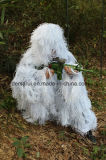 Militar Camo Ghillie Suit Snow White Camouflage