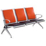 Hoher schwarzer kalter Stahl 3 Seaters allgemeiner Wartestuhl
