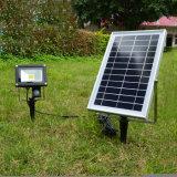 Super Bright 10W du capteur de mouvement Projecteur solaire IP65 paysage de sécurité de la pelouse de projecteur solaire