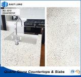 Partie supérieure du comptoir en gros de quartz pour le matériau de construction à la maison de décoration avec l'état de GV (couleurs de marbre)