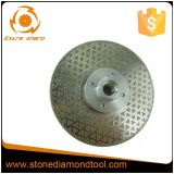 5 pouces Electroplated Diamond en porcelaine avec la bride de lame de scie