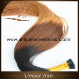 A melhor queratina européia de Remy Ombre eu derrubo extensões do cabelo