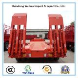 2 Semi Aanhangwagen van het Bed van de as de Lage met het Gewicht 85000kgs van de Tarra
