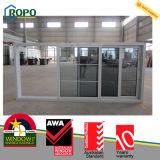 Окно PVC/UPVC двойное застекленное сползая с конструкцией решетки