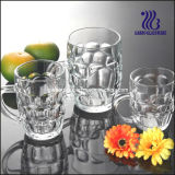 caneca de cerveja de vidro da alta qualidade 16oz com punho GB093920