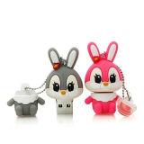 Vara da memória do USB do PVC do coelho do dispositivo da promoção para a promoção