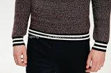 工場綿の円形の首のニットの人のセーター