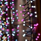 Blanco rosado soñador de la luz 3m400LED de la cadena del petardo para la decoración
