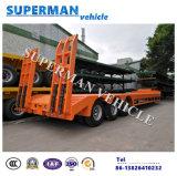 60t tri rimorchio basso del camion pesante del carico della piattaforma dell'asse Lowbed/Lowdeck/semi