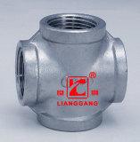 Atraviesa el tubo de acero inoxidable BSPT adaptador de rosca NPT