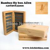 La máxima calidad de madera de bambú Caja de Pesca con Mosca