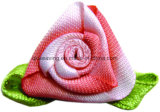 Polyester Satin Pink Bow Pink Flower for Decoration