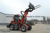 포크를 가진 중국 Wy2500 4WD 영농 기계 망원경 로더