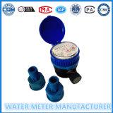Einzeln-Strahl trockenes zeigerartiges Wasser-Messinstrument in der schwarzen Plastikkarosserie