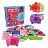 Les enfants d'animaux de la géométrie de Puzzle Puzzle Enfants jouet Puzzle d'apprentissage cognitif