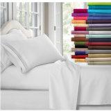 Полированный вышивки ткань из микроволокна пользовательский набор листов Постельные принадлежности постельное белье