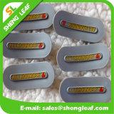 Regalos promocionales etiqueta de caucho levantada para prendas de vestir (SLF-TM003)