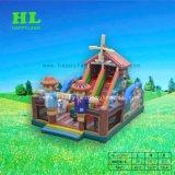 Blij het Springen van het Kasteel van de Dia van Funcity Bouncy van het Landbouwbedrijf Opblaasbaar Huis voor Jonge geitjes