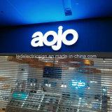 Acero inoxidable Cartas LED con acrílico para el frente de la tienda Nombre de publicidad de la muestra