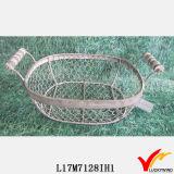 型のWireworkのフランス壷の装飾的な金属線のバスケット