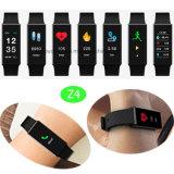 Bracelet intelligent d'étalage coloré imperméable à l'eau avec le moniteur du rythme cardiaque (Z4)