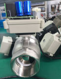 2 válvula de esfera motorizada elétrica inoxidável do aço Cr501 da maneira Dn50 Ss304 da polegada 2