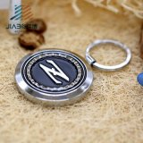Símbolo euro de la moneda de la carretilla del regalo de encargo al por mayor de la insignia con la promoción de Keychain