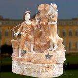 Natura des fontaines en marbre avec des enfants Statue de jardin