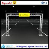 Línea de meta aluminio braguero, Gol LED Poal braguero, braguero Maratón