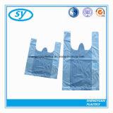 صدرة مقبض شركة نقل جويّ يمتلك كيس من البلاستيك مع علامة تجاريّة