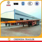 Плоский Axle палубы 3 60 тонн планшетный контейнера трейлер Semi