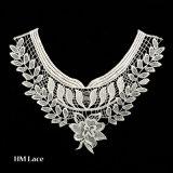 Alto collare del collo della camicia del collare del poliestere del ricamo del merletto del merletto all'ingrosso del collare per l'indumento X021 delle signore
