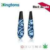 Pluma seca de la hierba de la mamba del negro del kit 1600mAh Ecig de Kingtons E Vape con la bobina 0.6ohm