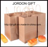 Papel Kraft marrón Bolsa de compras de alimentos