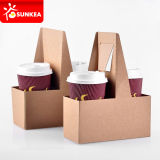 Logo a perdere Printed Paper Coffee Cup Carrier con Handle