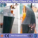 3-19mm lisos/curvou o vidro Tempered laminado para trilhos/porta/mobília do chuveiro