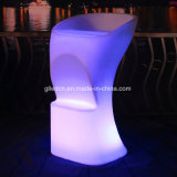 Muebles LED iluminado, sillas de barra para el evento dj House Club Hotel Pub