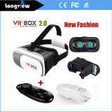 Boîte de Vr 2.0 lunettes 3D de réalité virtuelle avec contrôleur à distance Bluetooth