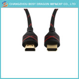 24k позолоченными контактами 4K 3D-кабель HDMI с нейлоновой сетки Briad