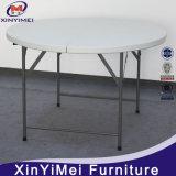 Tables de banquet rondes pliées en pliage en demi-pièce en plastique