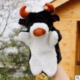 Giocattolo poco costoso su ordinazione del burattino di mano della mucca della peluche per la festa