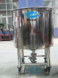 Food-Grade無菌タンク4つの車輪が付いている衛生貯蔵タンク