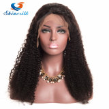 Предварительно Plucked Kinky фигурные кружева Wig бразильского кружева передней человеческого волоса парики с ребенком волосы Non-Remy природных визирную линию для женщин африканского происхождения